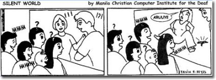 Comic strip designed by MCCID students and posted in Manila Bulletin