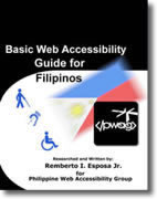 Cover Page Basic Web Accessibility Guide for Filipinos