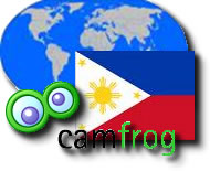 Camfrog Symbol with Philippine Flag and Globe