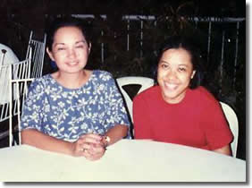 Emilie with Philippine President Gloria-Macapagal Arroyo