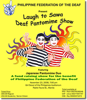Laugh to Sawa Deaf Pantomine Show