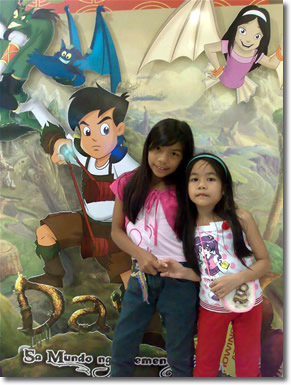 My Nieces Pose Behind Dayo Background