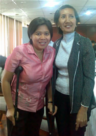 Gov. Grace with Pilar, a deaf leader from Zamboanga
