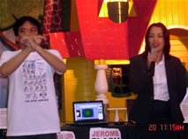 Me interpreting for Ms. Renee Bacani, SM North EDSA General Manager