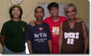 PFD President Racquel Corpuz, Marlon Parazo, Ptr. Rodel Manila and Mr. Rafaelito Abat