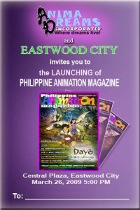 Animation Magazine Invitation Poster
