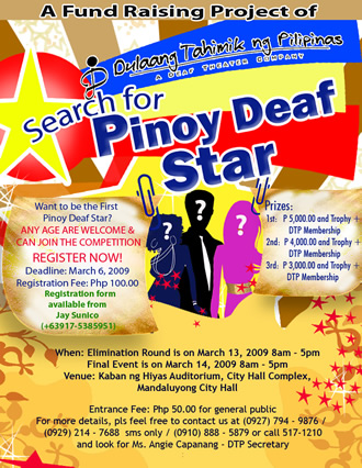 Search for Pinoy Deaf Star Poster