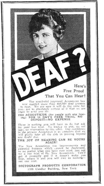 Advertisement Printed in 1920