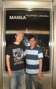 Juwon and Me at Seoul Tower Manila Window