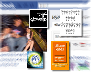 Facebook Pages Logos in front of Jojo's Facebook Profile Snapshot in blur.