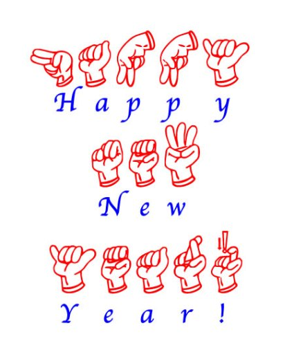 Happy New Year in FSL Fingerspell