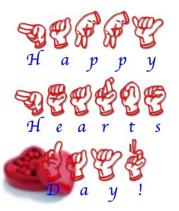 Happy Hearts Day from FSL Font
