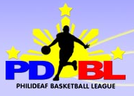 Philippine Deaf Basketball League Logo