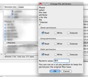 File Attribute in Filezilla
