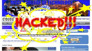 website hacked mccid page