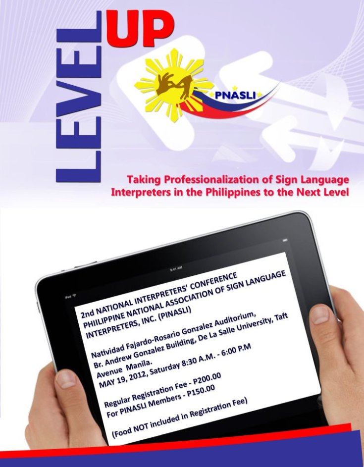 lebel up invitation written in tablet pc