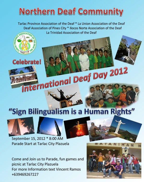 International Deaf Day Poster