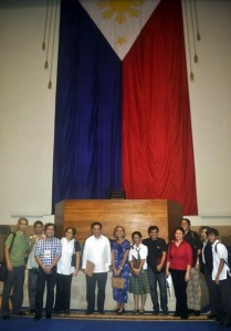 FSL Advocates pose behind the Congress Hall