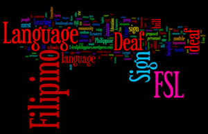 FSL Wordie Collage of Words