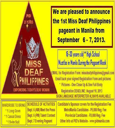Miss Deaf Philippines promotional poster