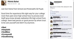 Deaf's FB Post