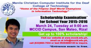 Scholarship Exam Poster