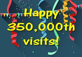 Happy 350,000th visits!