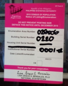 Sticker posted by NSO at MCCID premises after getting the result of the questionnaire they provided.