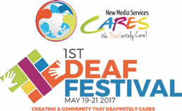 NMS Cares 1st Deaf Festival Logo May 19-21, 2017