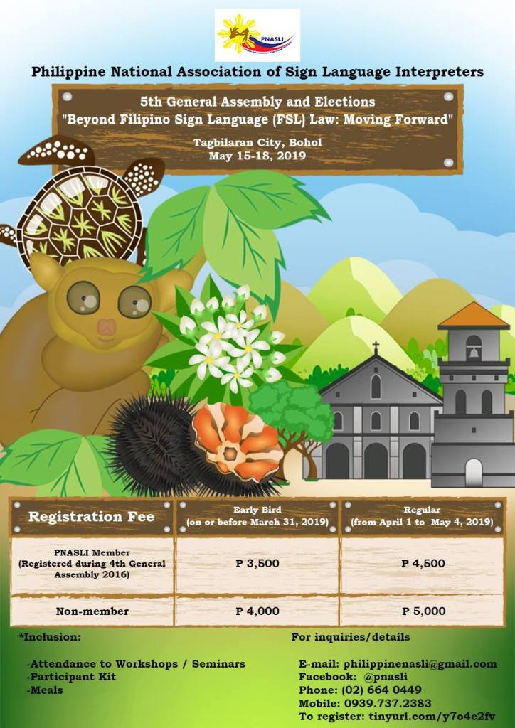 PNASLI Poster Announcing the 5th General Assembly in Bohol, Philippines