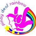 Pinoy Deaf Rainbow Logo