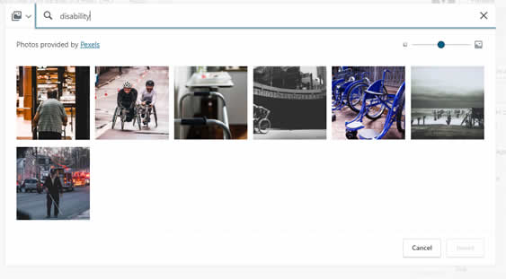Image search results showing wheelchairs
