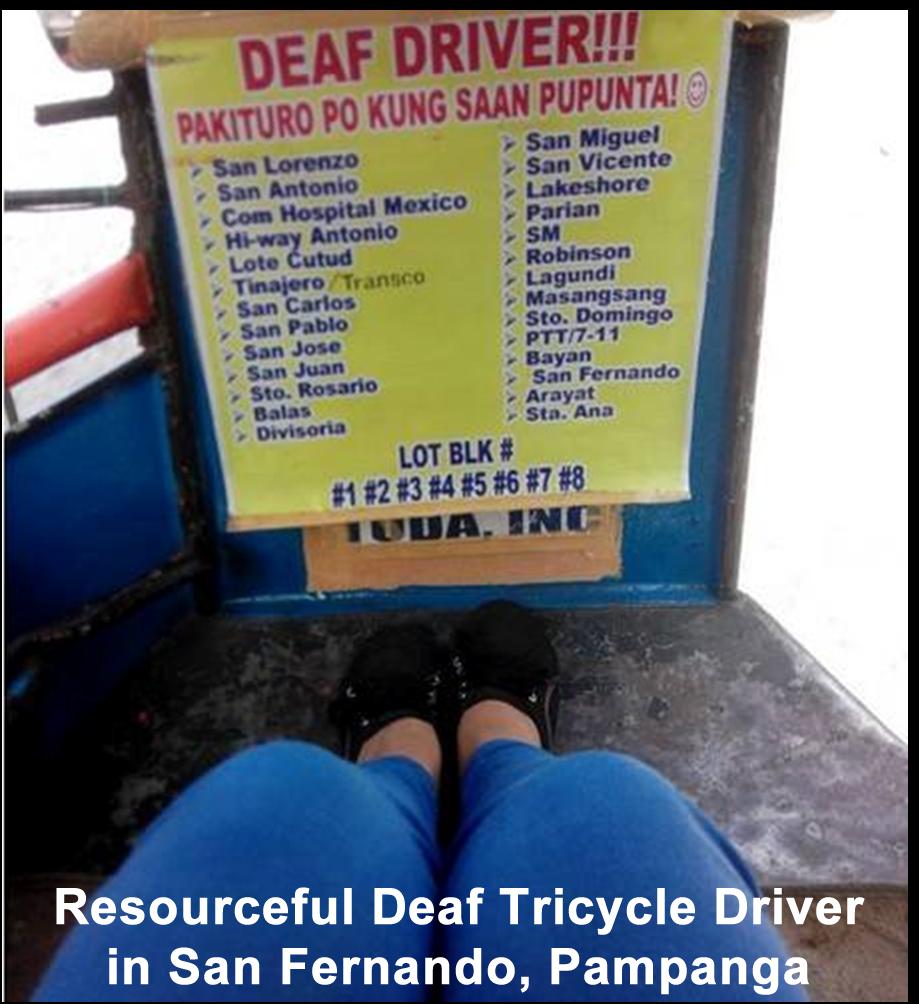 Deaf Driver in Pampanga