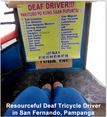 Deaf Driver in Pampanga