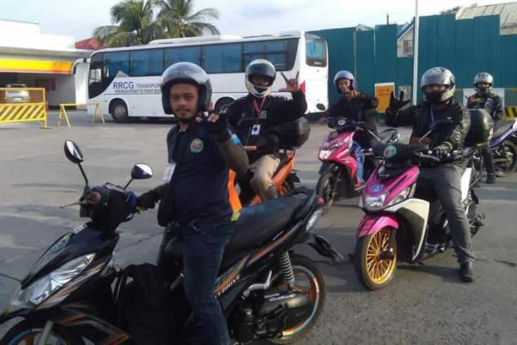 Owen riding my bike pose together with ALKASAMOPI Deaf Members