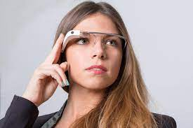 google glass as worn by a model